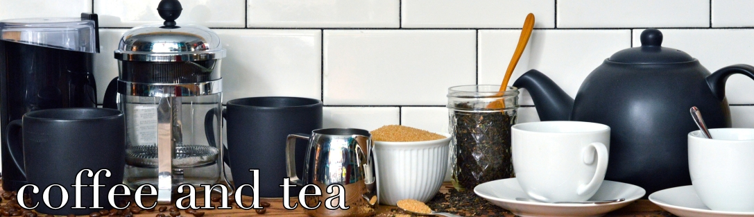 coffee and tea with text